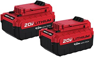 PORTER-CABLE 20V MAX Lithium Battery, 4.0-Ah, 2-Pack (PCC685LP)