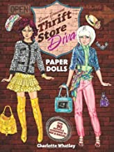 Thrift Store Diva Paper Dolls (Dover Paper Dolls) by Charlotte Whatley (2013-06-19)