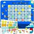 PutskA Potty-Training-Magnetic-Reward-Chart for Toddlers - Potty Chart with Multicolored Emoji & Star Stickers – Motivational Toilet Training for Boys & Girls (Arctic Animal Theme) from PUTSKA
