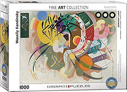 EuroGraphics Dominant Curve by Wassily Kandinsky (1000 Piece) Puzzle by EuroGraphics