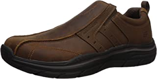 Skechers Mens Expected 2.0-Wildon Leather Slip on Leather Slip on