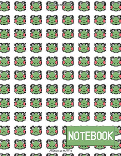 Notebook:: With Frogs   Large (8.5 x 11 inches) 200 Pages   Blank Notebook   Journal   Diary