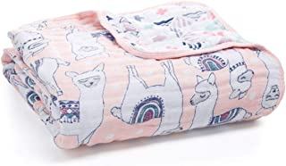 aden + anais Dream Blanket | Boutique Muslin Baby Blankets for Girls & Boys | Ideal Lightweight Newborn Nursery & Crib Blanket | Unisex Toddler & Infant Bedding, Shower & Registry Gift, Llamas