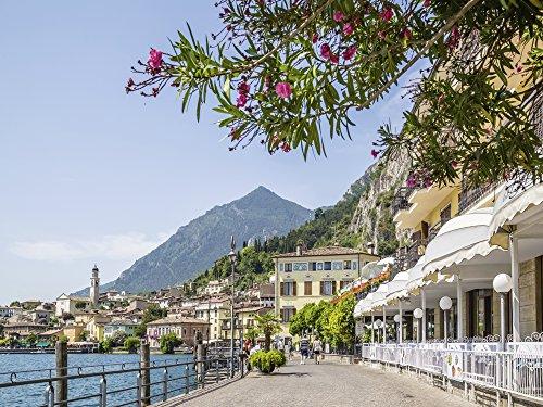 Artland Qualitätsbilder I Wandtattoo Wandsticker Wandaufkleber 60 x 45 cm Landschaften Europa Italien Foto Bunt B7UB Gardasee Limone sul Garda Uferpromenade