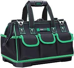 Gereedschapskoffer, 40,6 cm (16 inch), bovenste opbergtas, gesloten gereedschapstas, meerdere vakken, met schouderriem en ...