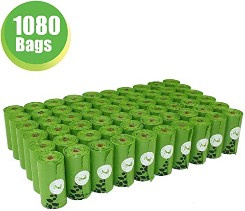 PET N PET Poop Bags Earth-Friendly 1080 Counts 60 Rolls Large Unscented Dog Waste Bags Doggie Bags