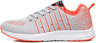 SKLT Mesh Running Shoes for Women Stripe Hit Color Ultra Light Sneakers Non Slip Ladies Trainers Sport Jogging Walking Shoes Lace Up