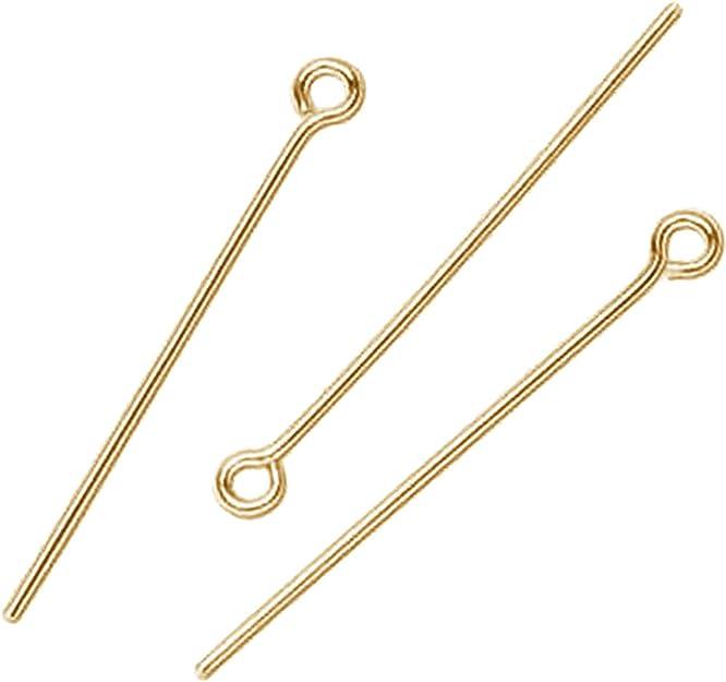 22 Gauge Gold Overlay Head Pin-2