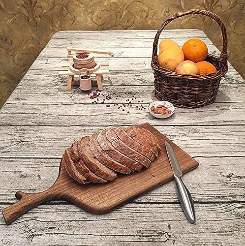 Tablecloth WERLM Nappe en similibois Simple Coton Lin cirée Nappe rectangulaire, 120  180cm