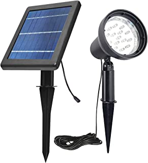 SUNLONG Solar Spotlights Outdoor Waterproof Bright Solar Wall Light Led Security Flood Light Solar Powered for Flag Patio Front Door Driveways-Automatically Activates at Dusk to Dawn (White)