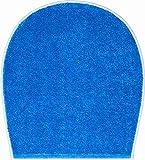 Gr& Badteppich 100prozent Polyacryl, ultra soft, rutschfest, ÖKO-TEX-zertifiziert, 5 Jahre Garantie, BONA, WC-Deckelbezug 47x50 cm, blau