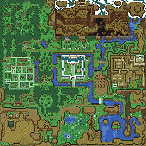 The Museum Outlet Videospiel-Karte Lichtwelt aus The Legend of Zelda: A Link to the Past, Posterdruck, Format A3