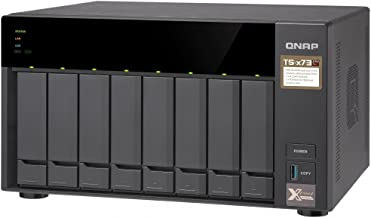 QNAP TS-873-4G-US 8-Bay NAS/iSCSI IP-SAN, AMD R Series Quad-core 2.1GHz, 4GB RAM, 10G-Ready
