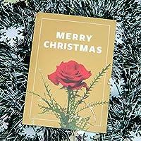 ダイゴー 日比谷花壇 クリスマスカード typography-04 A Rose ギフトカード グリーディングカード