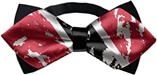 YEAHSPACE Mens silk Bowtie Gift Trinidad And Tobago Flag Bow Ties