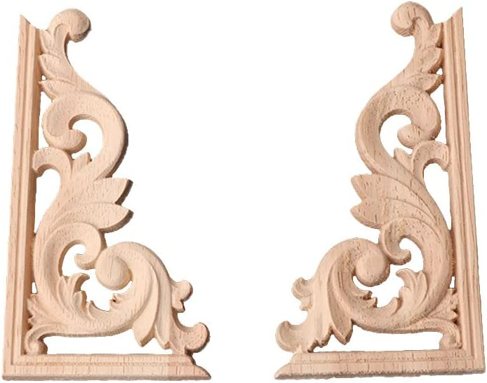 SANGHAI Photo Deluxe Rack 1Pair Max 47% OFF Wood Carved Applique Corner Frame Onlay