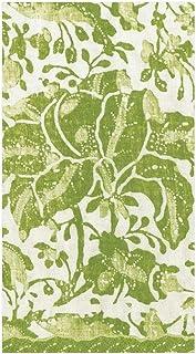 Caspari Plantation Print Paper Guest Towel Servetten in groen, vier verpakkingen van 15
