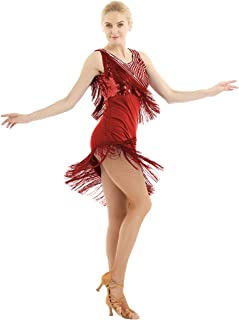 e3c42115a Amazon.es: vestidos de salsa de baile - Rojo