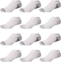 New Balance Men's Athletic Arch Compression Cushioned Low Cut Socks (12 Pack), Size Shoe Size: 6-12.5, White/Grey