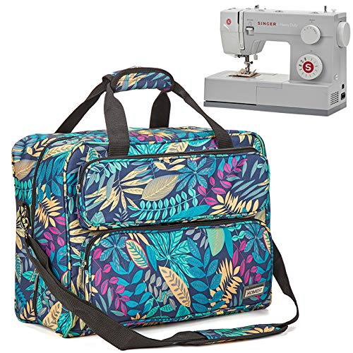 HOMEST Sewing Machine Carrying Case, Universal Tote Bag with Shoulder Strap Compatible with Most Standard Singer, Brother, Janome, Floral (Patent Design)