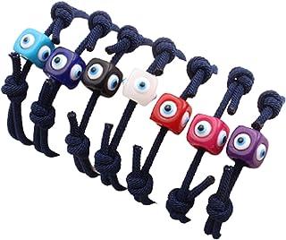 NC Evil Eye Adjustable Bracelet Hand-Woven Kabbalah Red String Amulet Nazar Rope Bracelet for Women Girl Protection Lucky ...