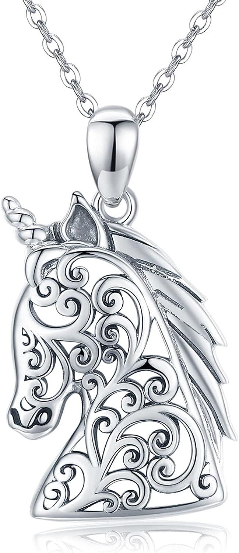 Unicorn Necklace for Luxury goods Sales sale Women 925 Sterling Penda Animal Silver Cute