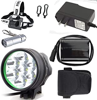 Constefire Bicycle Light 7X XML U2 Bicycle Lights ,(9800lm,7 LED,3 Modes),Headlight, Head lamp with 6PCS 18650 Rechargeable Li-thium Batteries Packing ; Including 2 PCS Fashion Bicyle Taillights