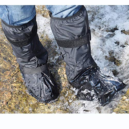 Aobrill Waterproof Shoes Covers, Foldable Reusable Snow Rain Boot for Women Men (Black, XXL)
