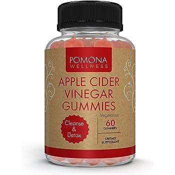 Pomona WELLNESS Apple Cider Vinegar Gummies with B Vitamins for Immune Support, Detox and Cleanse | Healthy Weight Management for Women & Men | 60 Gummy Bottle