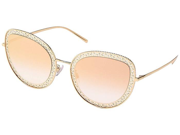 Dolce & Gabbana DG2226 (Pink Gold/Gradient Pink Mirror) Fashion Sunglasses