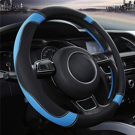 2019 Neue Schwarze Blaue Mikrofaser Leder Kleine Lenkradabdeckung Für Prius Civic 35 36 25 Cm Auto