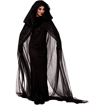 FIRMON-Halloween Disfraz de Bruja con Capucha para Mujer, de ...