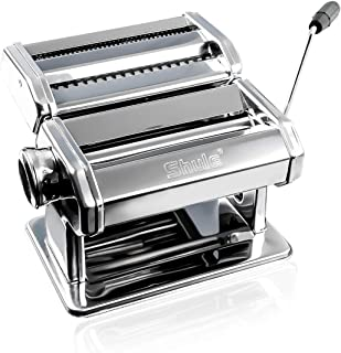 Pasta Maker By Shule – Stainless Steel Pasta Machine Includes Pasta Roller, Pasta Cutter, Hand Crank and Detailed Instruct...
