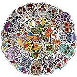 Qpout 100 pegatinas de calavera de azúcar para fiesta mexicana, cinco de mayo, día de los muertos, pegatinas para niños, diario, portátil, nevera, taza, caja de regalos, accesorios de decoración