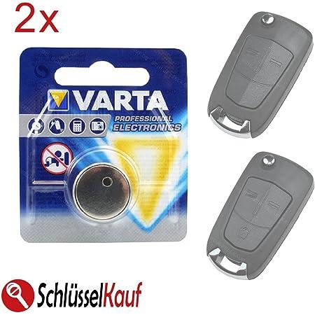 2x Autoschlüssel Batterie Knopfzelle Passend Für Opel Elektronik