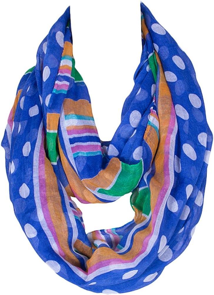 Kingree Fashion Pattern Premium Soft Loop Infinity Scarf Polka Dot Series
