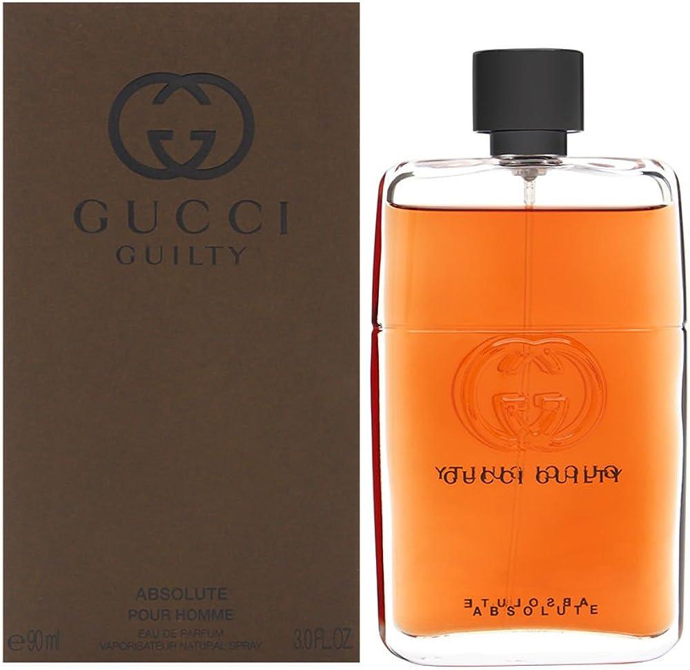 Gucci guilty absolute eau de profumo uomo spray - 90 ml 10006458