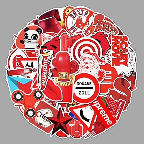 ZNMSB 50 Pegatinas de Dibujos Animados de la Serie roja Equipaje Maleta Maleta portátil teléfono móvil Graffiti Pegatinas de decoración