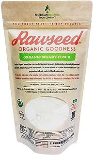 Rawseed Sesame Flour 1 1/2 lbs (24 oz) Organic Certifed Natural 100%, Gluten Free