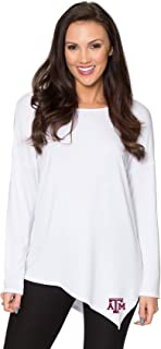 Flying Colors Women's NCAA Officially Licensed Texas A&M Aggies   The Ali - Drop Sleeve Oversized Asymmetric Tunic