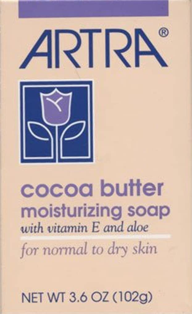 シェフ上級ベーリング海峡Artra Cocoa Butter Moisturizing Soap For Normal & Dry Skin - 3.6 Ounces