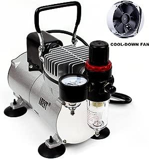 ABEST Compresor del aerógrafo Cool Runner Compresor de aire del mini pistón profesional del alto rendimiento con el regulador, indicador, filtro de la trampa de agua