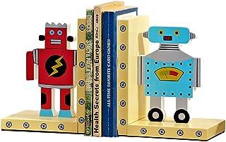 Bokstöd med robottema, bokstöd för barnkammare och barn, födelsedagspresent för flickor och pojkar bokstöd (Färg: Trä, sto...