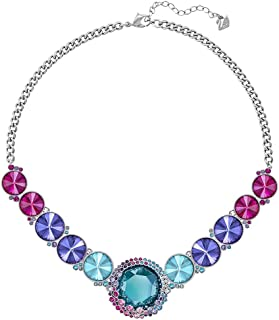 Swarovski Women's Rhodium Plated Crystal Statement Necklace, 40 cm - 5182020