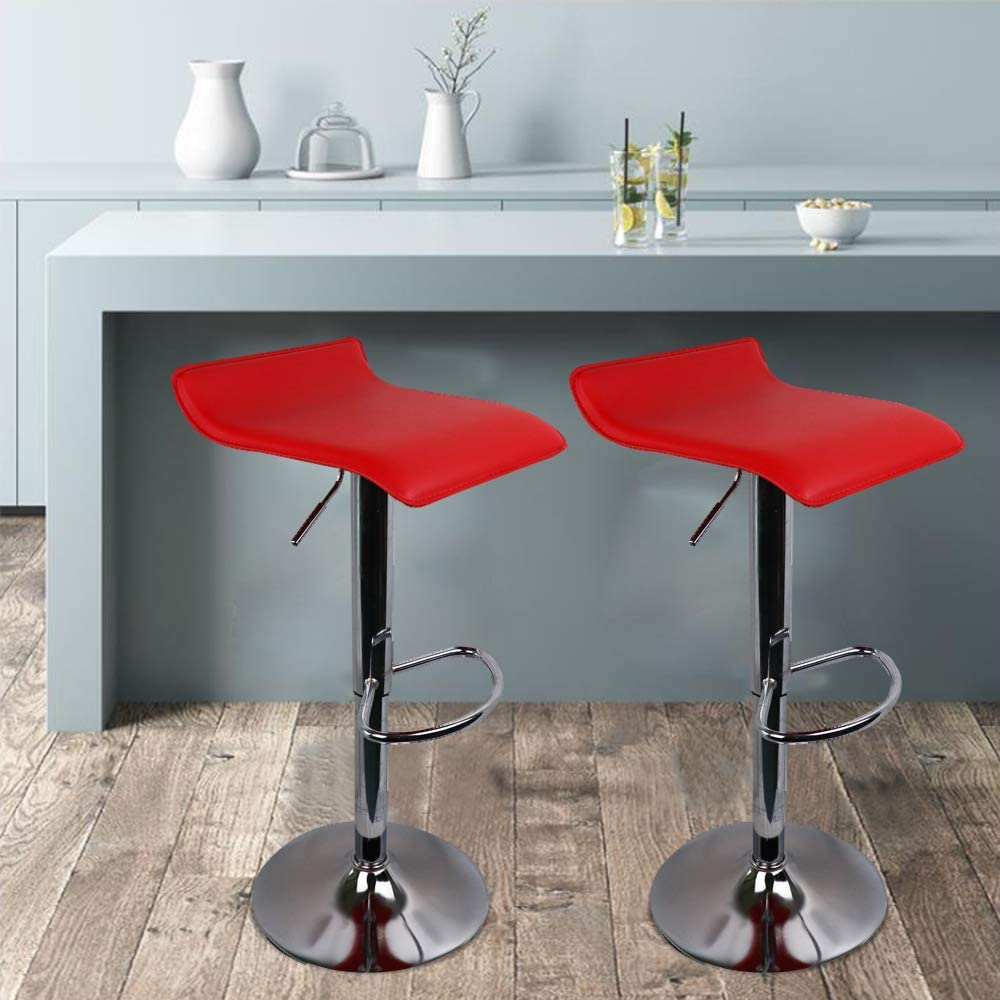 Buy Bar Stool Set of 9, Height Adjustable Pu Leather Swivel Bar ...