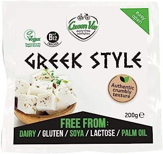 comprar comparacion GreenVie Queso Feta mediterránea Griego Bloque vegano 200g (Pack de 4)