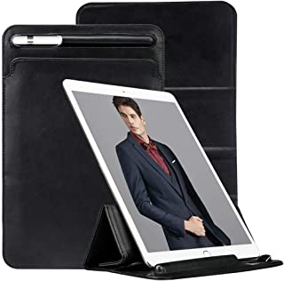 iPad Pro 12.9 Case Apple Pencil Holder TOOVREN Tri-fold Stand iPad Pro Sleeve Case Cover with Pencil Holder Pouch Microfiber Lining for 2017 Apple iPad Pro 12.9 Inch Black