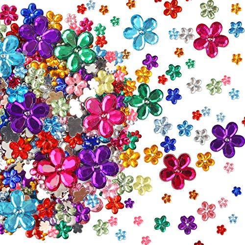 CHALA 1450stk Schmucksteine Set Blume Strasssteine Acryl Bunt Edelstein Kristall Glitzersteine zum Basteln und Dekorieren für Scrapbooking Fotorahmen DIY Schmuck Handwerke