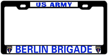 Universal Black License Plate Frame for Women/Men, Aluminum Metal License Plate Cover Holder, Military Auto Car Tag Frame for US Standard