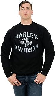 Mens Serious Rider B&S Pullover Black Long Sleeve Sweatshirt